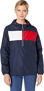 Tommy Hilfiger Womens Iconic Color Block Windbreaker