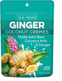 ALE + WANG Ginger Coconut Cremes Hard Candy | Made with Natural Ginger Juice and 100% Pure Coconut Milk | Great Alternative to Chocolate, Caramel, and Toffee (1-Pack)