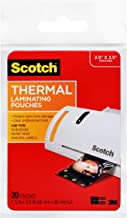 Scotch Thermal Laminating Pouches, 2.5 x 3.5-Inches, Wallet Size, 20-Pack (TP5904-20)