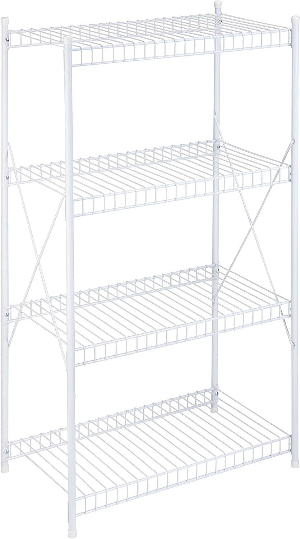 Honey-Can-Do New color SHF-05270 4-Tier Storage White 1400 5 ☆ very popular Shelf lbs