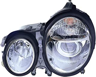 Depo 340-1118PXAS Chrome Headlight Assembly Projector for Mercedes Benz E Class
