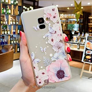 Cocomii Cute Armor Galaxy A8+ Plus 2018 Case New [Feels So Good in Hand] Pretty 3D Pattern Relief Silicone Shockproof Bumper [Slim] Cover for Samsung Galaxy A8+ Plus 2018 (C.Watercolor Butterflies)