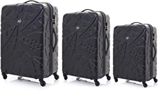 Kamiliant by American Tourister Pinnado Hardside Spinner Luggage Set of 3, with TSA Lock - Black