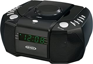 JENSEN JCR-310 AM/FM Stereo Dual Alarm Clock Radio with Top Loading CD Player, Digital..