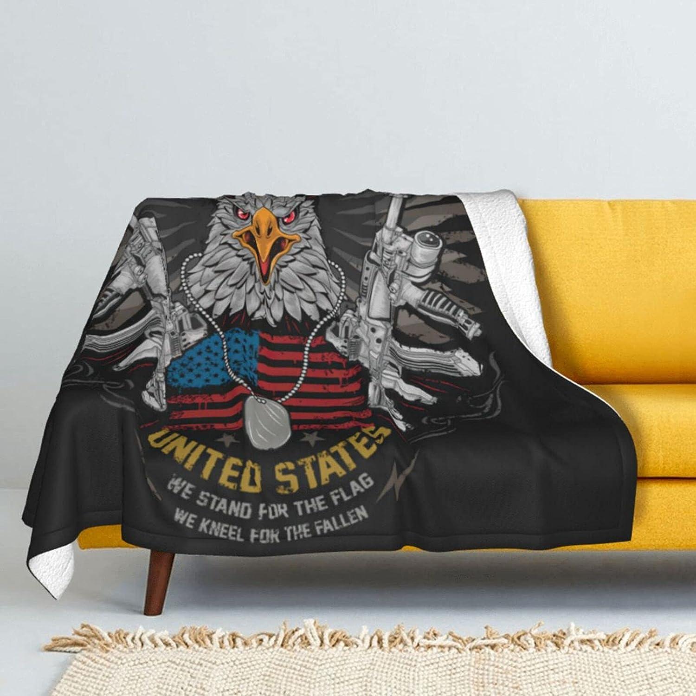 Vintage American Flag Eagle 5 ☆ popular Superior Lamb Wool Throw Blanket Super D Soft