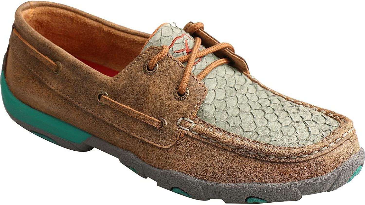Twisted X Women's Fish Scale Driving Mocs Moc Toe