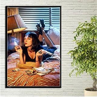Póster Pulp Fiction Póster Mia Wallace Film Karakters Pósters En Prints Muur Art Canvas Schilderij Art Decor Póster Woonka...