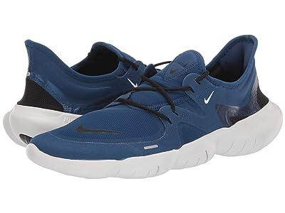 Nike Free RN 5.0 (Coastal Blue/Black/Platinum Tint) Men