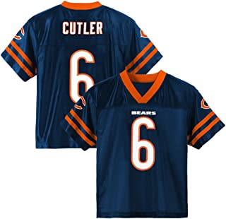 0768abe3916 Outerstuff Jay Cutler NFL Chicago Bears Dazzle Replica Navy Blue Home Jersey  Youth (XS-
