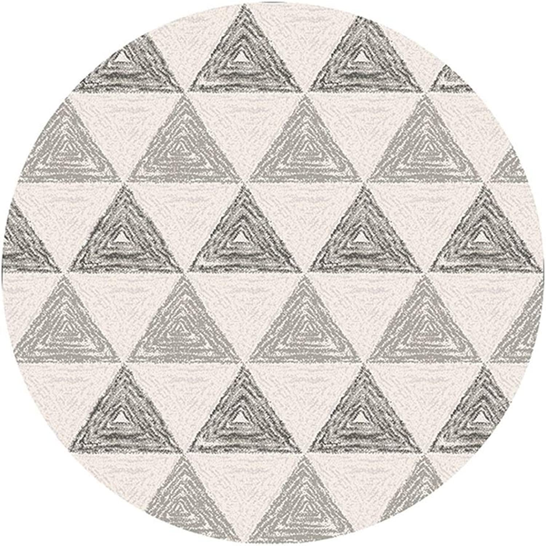 Lvdijidian Rug Modern Minimalist Nordic Geometric Area Round Carpet Princess Room Bedroom Kitchen Mat Rug Doormat of Decoration (Size   Diameter 80CM)