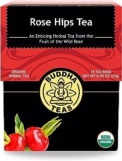 Organic Rosehips Tea - Kosher, Caffeine-Free, GMO-Free - 18 Bleach-Free Tea Bags