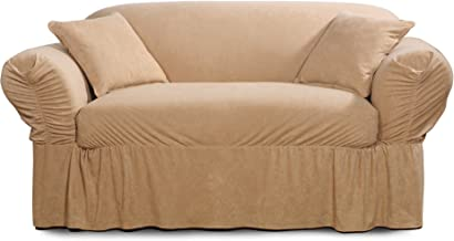 SureFit Faux Suede - Loveseat Slipcover - Taupe (SF38887)