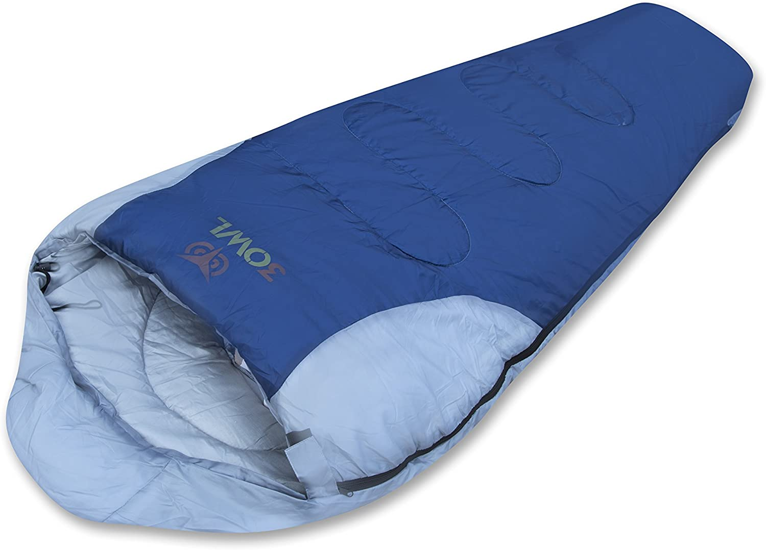 3OWL Mummy Sleeping Bag 3Season Ideal for Hiking, Camping, and Outdoors