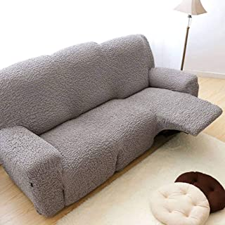 HUANXA High Stretch Reclining Sofa Slipcover, Sofa Cover for Recliner Furniture Protector Couch Covers for 1 2 3 Cushion Couch -Light Grey-Loveseat 150-200cm