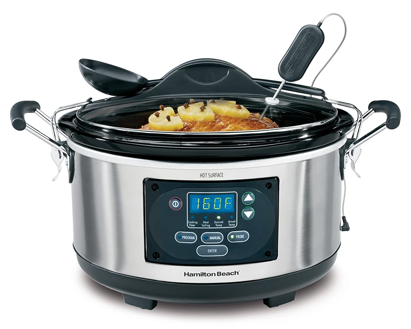 Hamilton Beach Set 'n Forget Programmable Slow Cooker With Temperature Probe, 6-Quart (33967)
