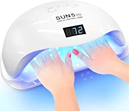 Professional Nail Dryer 72W - Sun 5 Pro Best UV LED Nail Lamp for Fingernail & Toenail Gel Based Polishes – Portable Nail ...