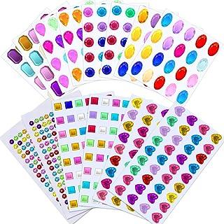 Selizo Craft Gems Self Adhesive Rhinestones Stickers Jewel Stickers Craft Jewels Stick On Gems Bling Crystal Diamond Stick...
