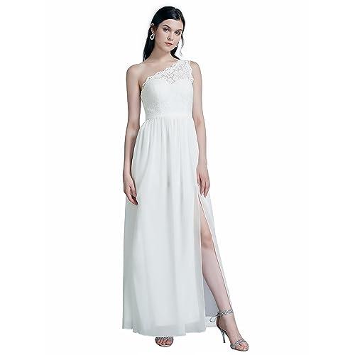 4deaf7710bd Ever Pretty Women s Elegant A Line Floor Length One Shoulder Chiffon  Evening Party Dress