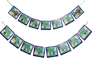 Bsstr Moana Inspired Happy Birthday Banner Party Supplies for Tropical Luau Summer Party Baby Showe