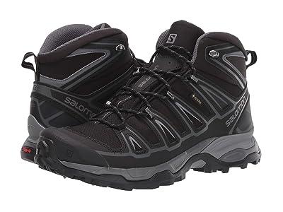 Salomon X Ultra Mid 2 Spikes GTX(r) (Black/Black/Quiet Shade) Men