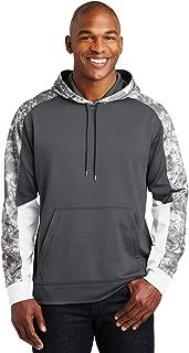 Sport-Tek 174 Sport-Wick 174 Mineral Freeze Fleece Colorblock Hooded Pullover. ST231