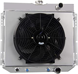CoolingCare 3 Row Aluminum Radiator+ Shroud+ 14inch Fan for 1963-70 Ford Multiple Models, Falcon/Mustang/Country Squire