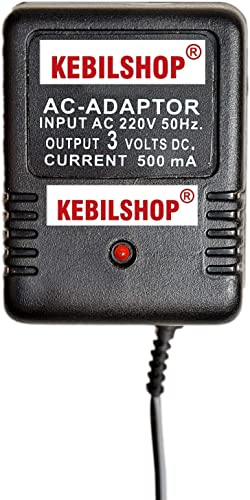 KEBILSHOP 3 Volt 500mA Power Adapter with 4 Multi Pin and Polarity Change Option for Radios Torches Toys Trimmer Allpurpose Use for Electronics Items
