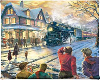 Thomas Kinkade All Aboard for Christmas 8 x 10 Gallery Wrapped Canvas