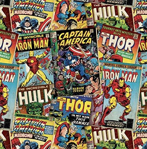 6Meter Retro Marvel Super Hero papel de regalo papel de regalo