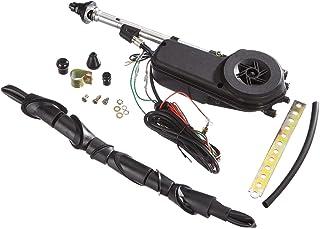 Komplette elektrische Auto Antenne, 12 V, universell, Edelstahl, elektrisch, automatische Flügelmontage.