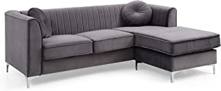 Glory Furniture Delray Sofa Chaise, Gray. Living Room Furniture, 32