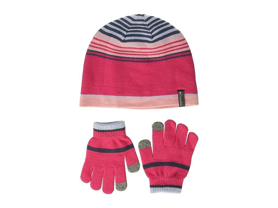 Columbia Kids Hat Glove Set (Youth) (Cactus Pink) Beanies