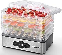 Aigostar Crispy- Deshydrateur alimentaire avec 5 plateaux. Déshydrateurs sans BPA, 240W. Déshydrate fruits, viande, légume...