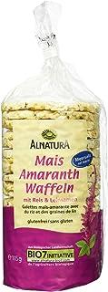 Alnatura Bio Mais-Amaranth-Waffeln mit Salz, vegan, 12er Pack 12 x 115 g