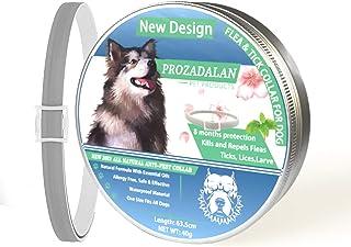 ProHomer Collar Antiparasitario para Perros contra Pulgas(8 Meses Protección), Garrapatas y Mosquitos, Cuello de Control d...