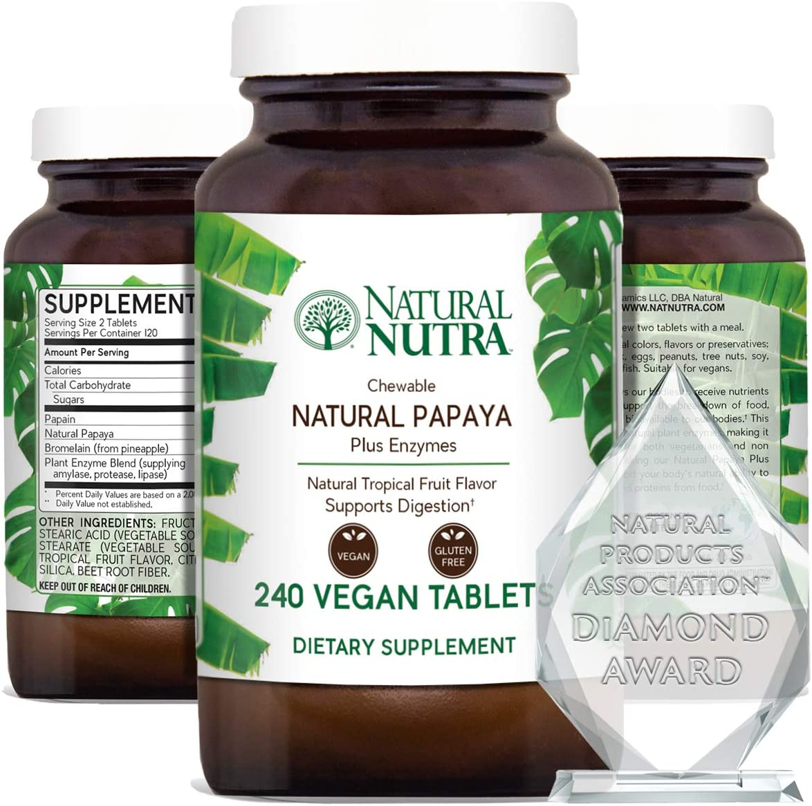 Natural Max 73% OFF Nutra Papaya Chewable Plant Digestion Cash special price Enzymes for Blend