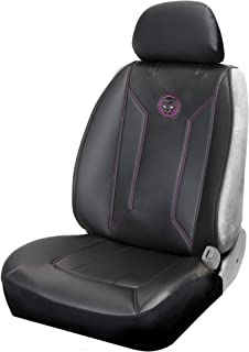 Plasticolor 008621R01 Marvel Black Panther logo'd Premium Sideless Seat Cover with Cargo Pocket for Car Truck and SUV