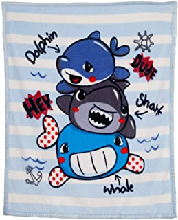 LUSH HOME Kids Double Ply Throw Blanket 40 x 50 inches (Baby Shark)