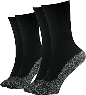 35 Below Ultimate Comfort Socks | Aluminized Thread, Soft Nylon Knit Warming Socks | 2 Pairs in Black | Size Small/Medium