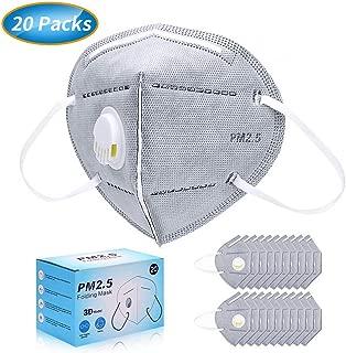 マスク 使い捨てマスク PM2.5対応 ふつうサイズ ますく 立体 排気弁付き 個包装 20枚入