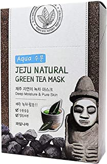 WELCOS Jeju Natural Facial Mask(10ea) (Green Tea)