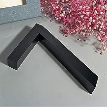 LHongBin-Deur huisnummer, zwart metaal 3D moderne huisnummers teken, roestvrij staal lettre adressen, 0-9 ABC Outdoor Wate...