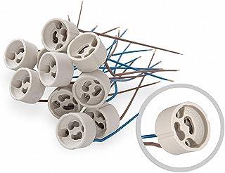 10 piezas de lámparas de halógeno GU10 sustituye VDE 190-230V de cerámica de alto voltaje