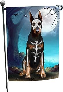 doberman skeleton halloween