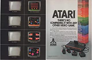 Magazine Print Ad: 1982 Atari Space Invaders, Missle Command, Asteroids Video Games,