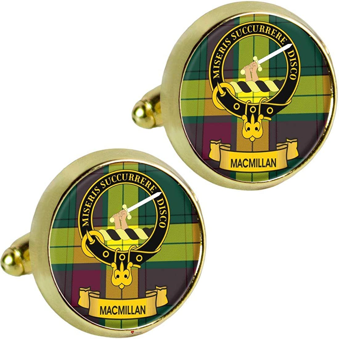 I LUV LTD MacMillan Scottish Clan Boston Mall Mens Gold Cufflinks 2021new shipping free shipping C Crest in