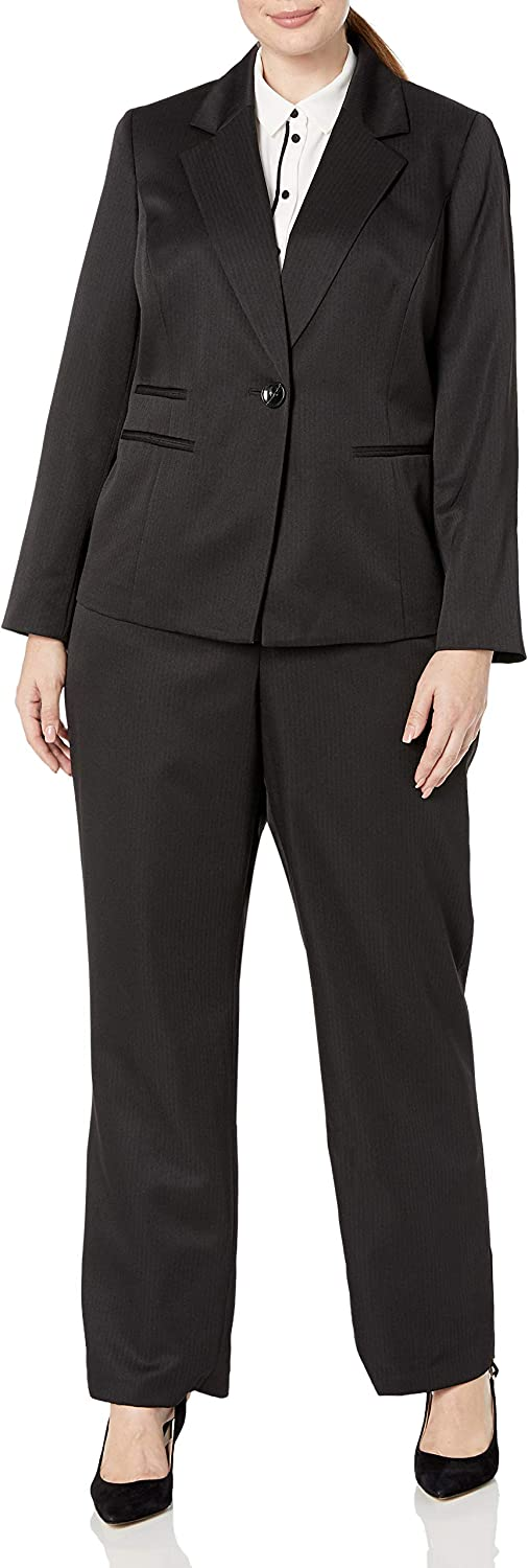 Le Suit Women's SEAL limited product 1 Button Notch Collar Stripe Pant Tonal Fixed price for sale