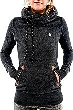 Cutiefox Women's Pullover Hoodie Funnel Neck Long Sleeve Hooded Sweatshirt with Pocket