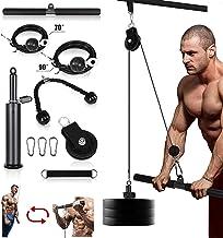 Kacsoo 16 Stks Fitness Katrol Kabel Systeem voor Gym, Thuis Workout Gym Apparatuur, Onderarm Pols Roller Trainer Arm Krach...