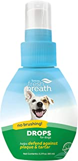 TropiClean Fresh Breath Oral Care Drops for Pets - Made in USA - Natural Ingredients - On-The-Go Plaque Defense - Travel-R...